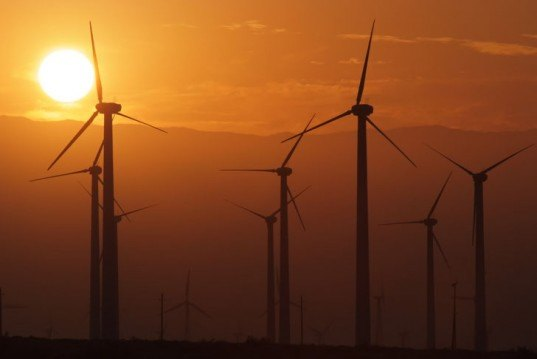 Wind turbines, wind farm, windmills, wind energy, sunset, wind power