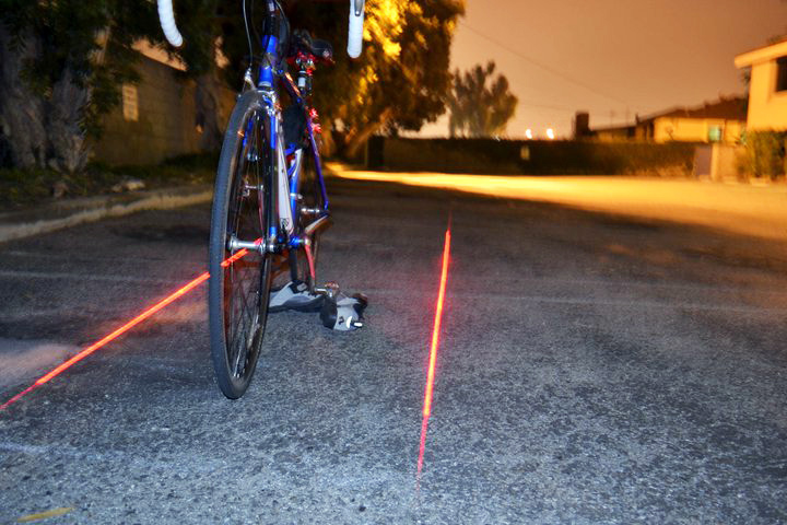 Xfire Safety Light Lets You Create Your Own Laser Generated Bike