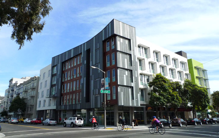 Richardson Apartments David Baker S Affordable Housing Project In Hayes Valley Wows Design Enthusiasts At Aia Homes Tours