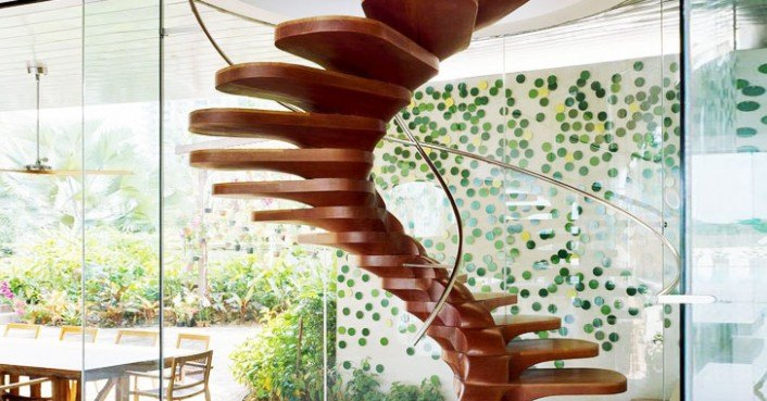 Wood Spiral Staircase By Patrick Jouin « Inhabitat U2013 Green Design,  Innovation, Architecture, Green Building
