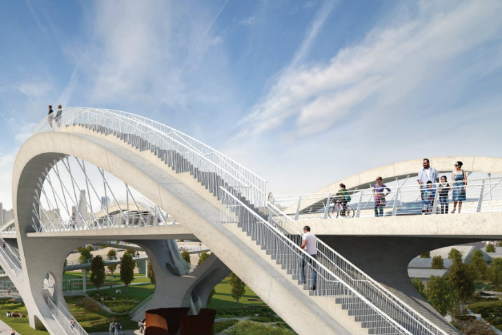 Hntb Unveils High Flying Ribbon Bridge To Renovate Los
