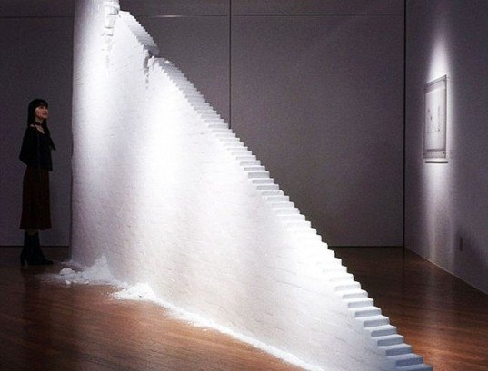 Salt Staircase, Motoi Yamamoto, staircase, stairs, sustainable design, green design, green building, green architecture, sustainable architecture, eco stairs, stair porn, innovative staircases, imaginative staircases, multifunctional staircases, recycled staircase