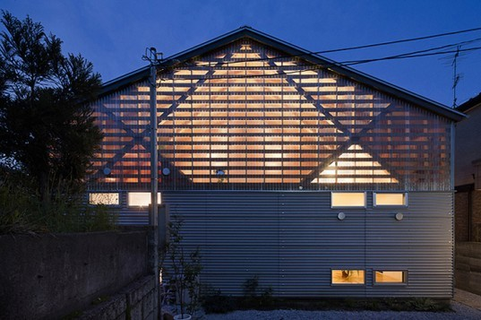 green design, eco design, sustainable design, Outside house, Outside (Outside) ((Outside)) House, aa+h architects, double house, polycarbonate panels, Japanese architecture