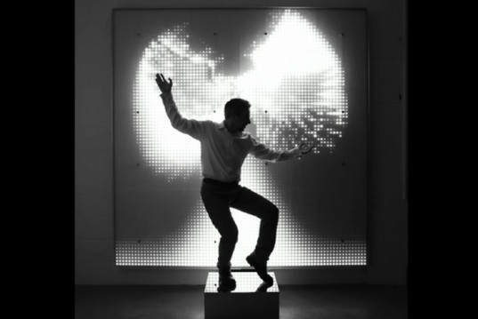 green design, eco design, sustainable design, LED sculpture, Victoria and Albert Museum, Cinimod Studio, Ice Angel, interactive LED installation, Angel WIngs