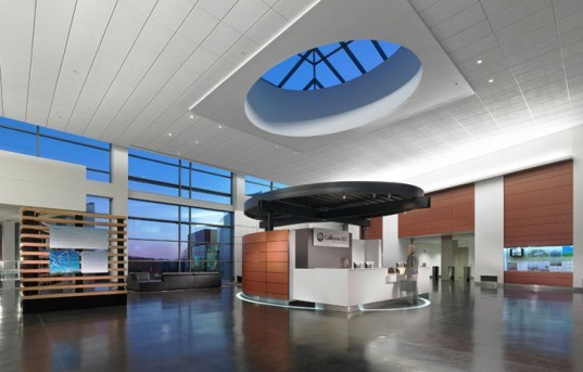 Dreyfuss & Blackford Architects, Architecture, Sacramento, Folsom, California Independent System Operator, Headquarters, LEED Platinum, LEED, energy efficiency, gray water, photovoltaic, Clark Construction