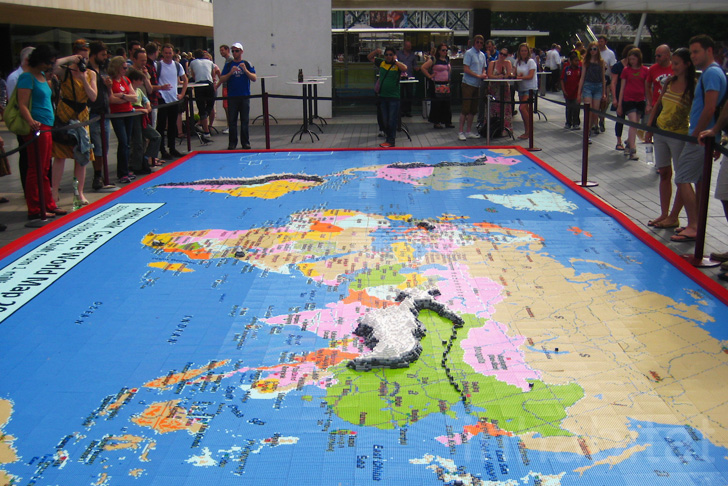 Duncan titmarshs our world in lego map at london inhabitat duncan titmarshs our world in lego map at london inhabitat green design innovation architecture green building gumiabroncs Choice Image