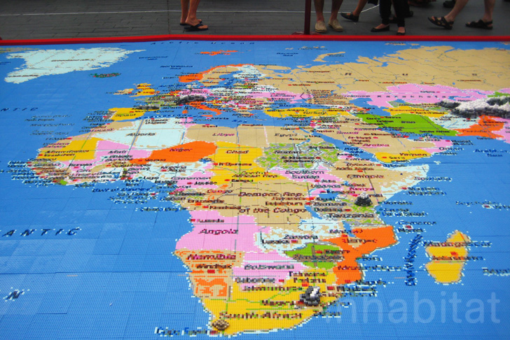 Our world a giant pixelated lego map built from 1 million bricks design gumiabroncs Choice Image