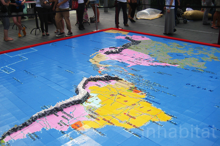 Our World: A Giant Pixelated LEGO Map Built from 1 Million ...