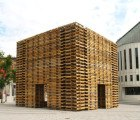 FORÊT II is a Meditation Pavilion Made from 810 Reclaimed Shipping Pallets