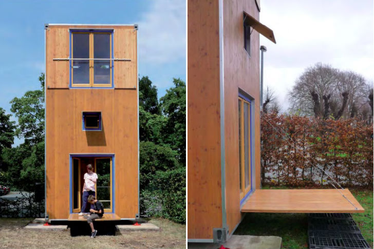 shipping container inspired homebox is a tiny movable 3