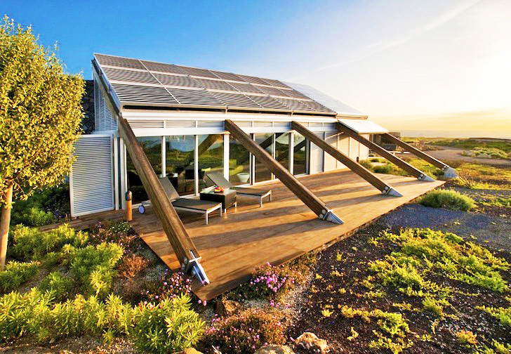 Amazing Net Zero House In The Canary Islands Has On-Site Wind