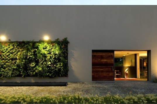 green wall, vertical garden, House in Estoril, Spain, FVArquitectos, sustainable renovation, green renovation, green design, sustainable design, eco-design, daylighting