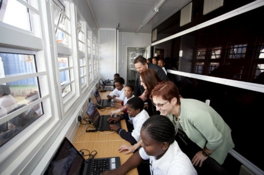 Infinite Family, Perkins Will, launchpad, shipping container learning laboratory, cargotecture, south africa