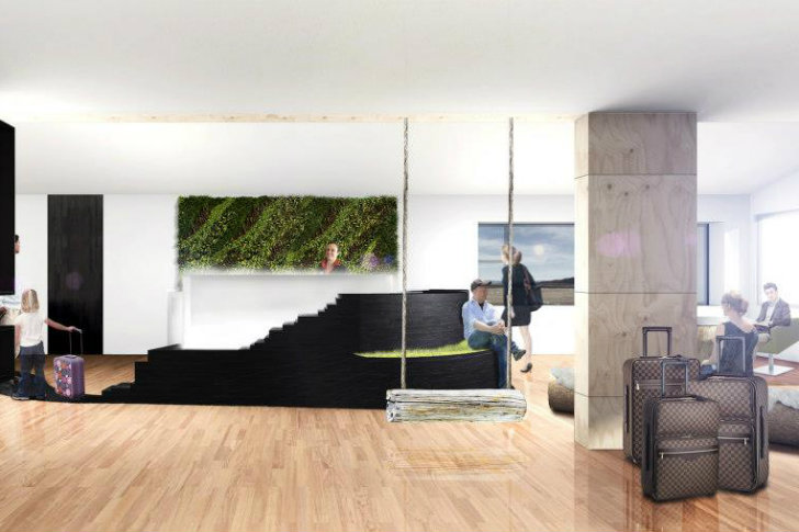 minarc s prefab ion adventure hotel is set to open in the spring of