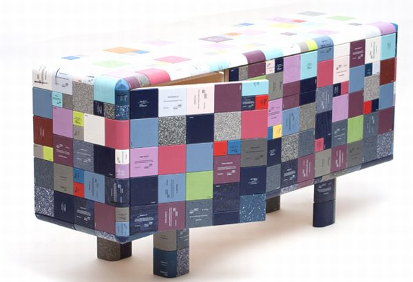 Jay Watson Makes Pixelated Furniture From Recycled Corian Samples