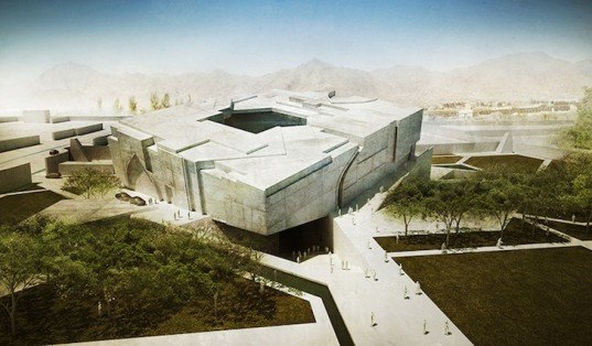 Matteo Cainer Architects, Afghanistan, Matteo Cainer Architects, Timeless Cube, daylighting, sustainable design, Kabul, architecture, cube, green design, eco-design, rainwater harvesting