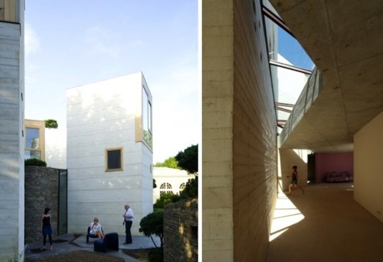 France, RIBA, christian pottgiesser architecturespossibles, pottgiesser architecturespossibles, green roof, tower home, converted orangery, green renovation, Maison L, France, bedroom towers, Manser Medal, 2012, green design, daylighting, sustainable design