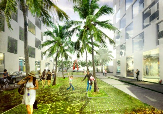 Marina Lofts, BIG, ft. lauderdale, residential development, new river, tree preservation, hanging gardens