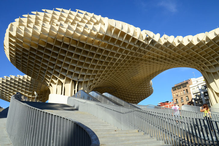 Spain S Metropol Parasol Is Like A Giant Waffle Roller