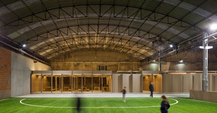 Portugese warehouse gets converted into sports facility by for Indoor facility design