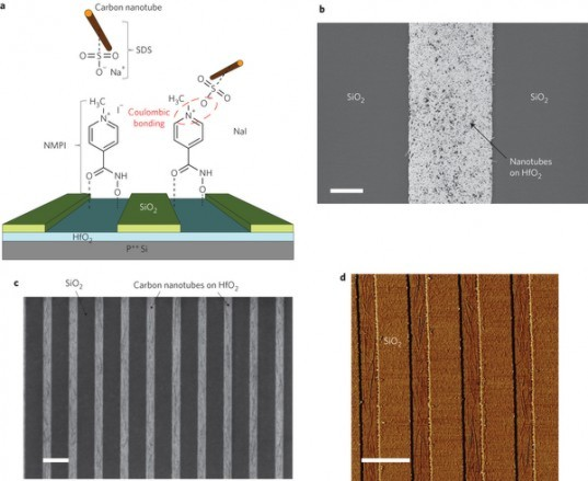 microchips, carbon nanotubes, computer chips, electronic devices, ibm, carbon, silicon, nature nanotechnology