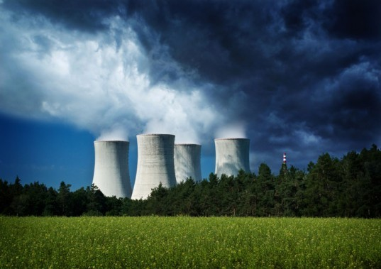Nuclear power, nuclear energy, nuclear plant, storm clouds, dark clouds