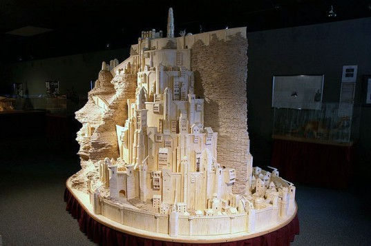 green design, eco design, sustainable design, Hogwarts School of Wizardry, Harry Potter, Patrick Acton, Matchstick architecture, Minas Tirith, Lord of the Rings, Matchstick Notre dame, matchstick Capitol building, Matchistick US Challenger