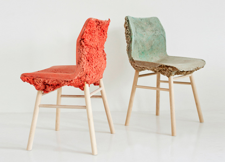 Colorful Well Proven Chair is Made from Recycled Wood Waste and Bio-Resin