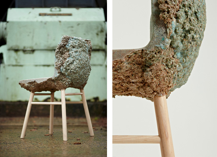 Colorful Well Proven Chair Is Made From Recycled Wood