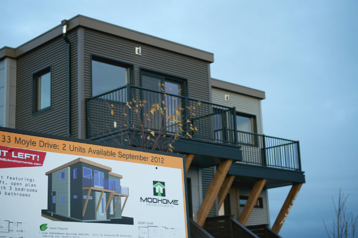 Yellowknife modular duplex smplymod inhabitat green for Duplex modular homes
