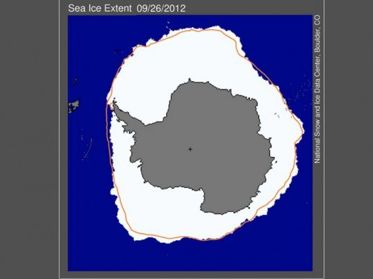artic, sea, ice, record, minimum, extent, september, 2012, NSIDC, map