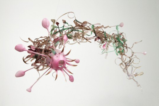 Aurora Robson, recycled materials, recycled plastic, plastic art, recycled material art, sculptures