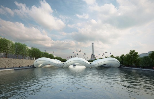 green design, eco design, sustainable design, green bridge, eco bridge, sustainable bridge, paris, paris design, paris bridge, azc, azc design, azc bridge, inflatable bridge, trampoline bridge, french design, green design paris, eco design paris, sustainable design paris, seine river paris, seine river design, seine river bridge