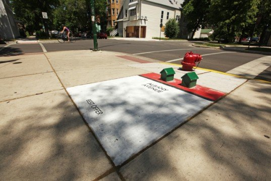 street art, bored, chicago street art, monopoly, giant game pieces, sustainable art, public artwork, thisiscolossal