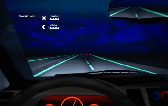 Netherlands, smart highway, driving safety, glow-in-the-dark, interactive lighting, Dutch Design Awards, Studio Roosegaarde, Hejimans Infrastructure