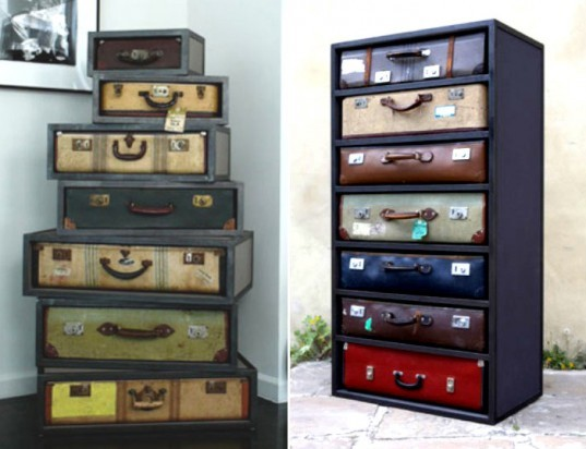 james plumb, antique, vintage, recycled, upcycle, suitcase, chest, drawers, bureau, design