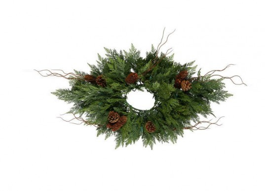 Eco-Friendly Holiday Wreath, green holiday decor, green holidays, eco holiday decor, eco holidays, green design, eco design, sustainable design, green products, eco friendly products, green holiday lights, led holiday lights, led christmas lights, led lights, green lights, green christmas tree, eco christmas tree, recycled christmas tree, eco friendly christmas decor, green holiday decorations