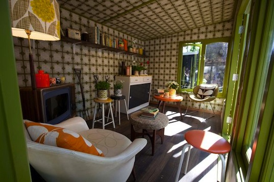 green design chelsea flower show uk orla kiely recycled materials garden