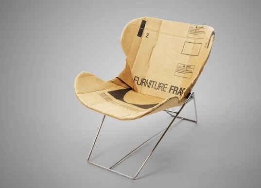 Re-ply, recycled cardboard chair, Dan Goldstein, recycled materials, green chairs