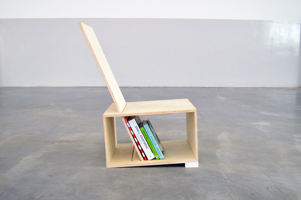 Charming The Rectangline Chair Is A Simple Geometric Seat That Doubles As A Bookshelf