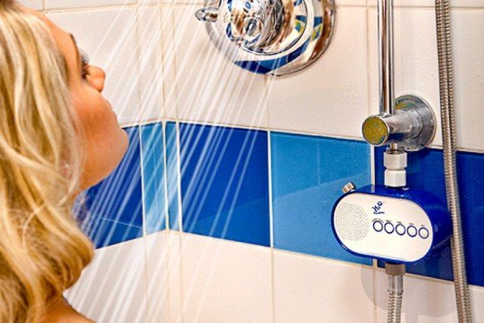 Shower Radio, water savings, water conservation, green design, eco design, sustainable design, how to save water, world water crisis, water shortage, save water