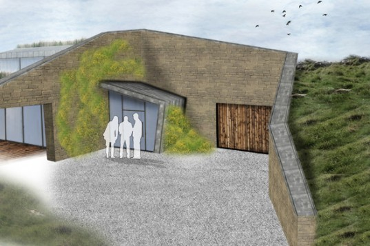 The Burrows, Paul Testa Architecture, Yorkshire, earth bermed, earth-sheltered home