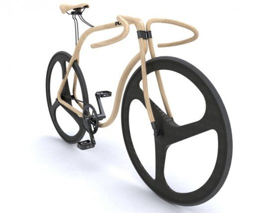 thonet bike, andy martin, beech wood, carbon wheels, bicycle, fixed gear, cycle