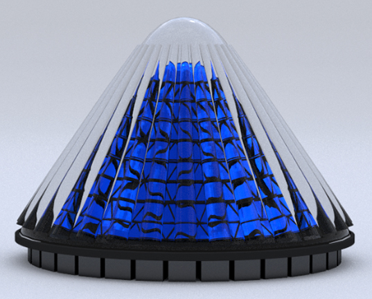 V3solar S Spinning Cone Shaped Solar Cells Generate 20