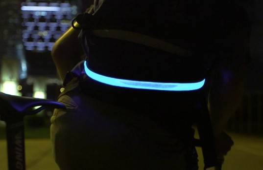 cycle safety, vizibelt, led lighting, night cycling, glow in the dark bikes