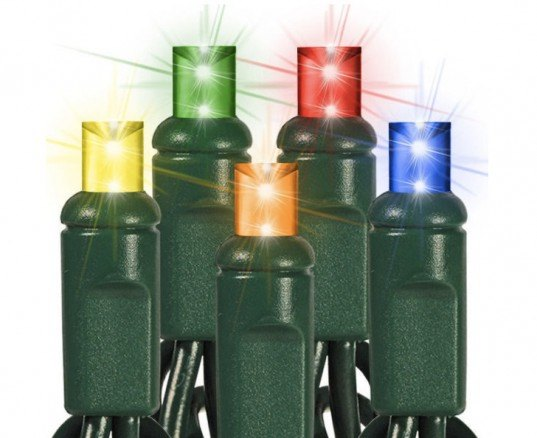 Wide Angle Mini LED Holiday Lights, led christmas lights, led holiday lights, led lights, light emitting diode, sustainable lighting, energy-efficient lighting, green lighting, green holidays, sustainable holidays, LED light strands, green christmas,