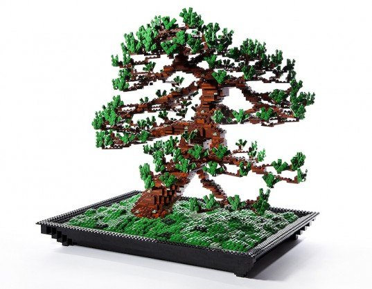 green design, eco design, sustainable design, Azuma Makoto, LEGO bonsai, LEGOs, bonsai plant