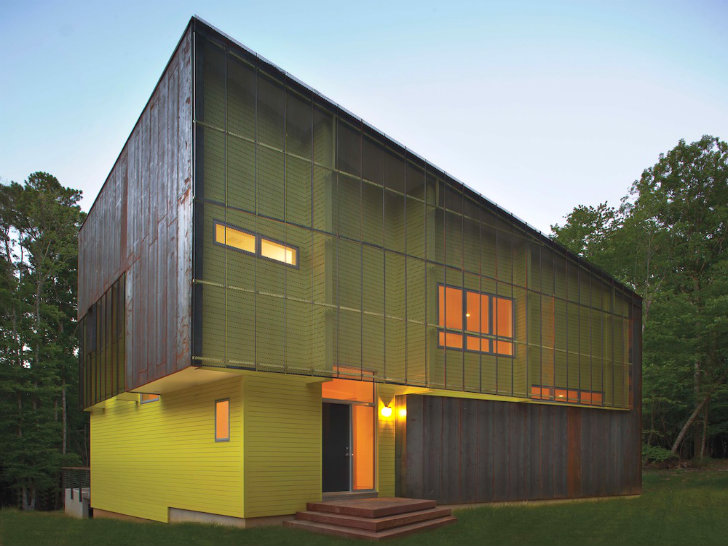 Modern Architecture North Carolina crabill house: a modern & energy efficient forest shed in north
