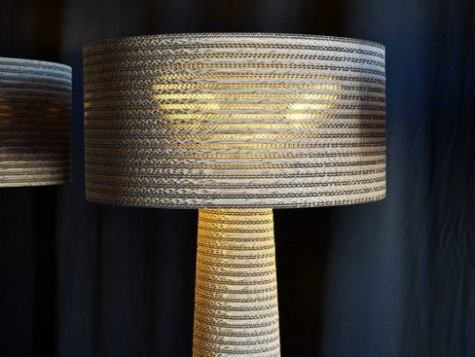 Fabbian, Cardboard Lamps, recycled cardboard, green lighting, eco-friendly lamps