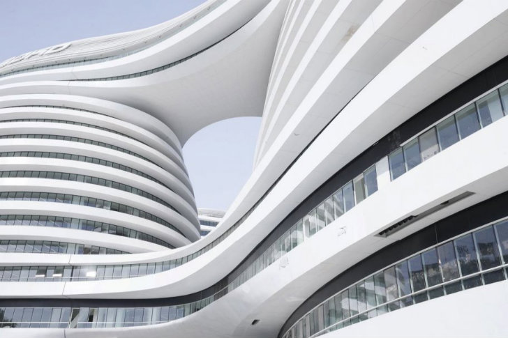 zaha hadid 39 s light filled leed silver galaxy soho opens in beijing inhabitat green design. Black Bedroom Furniture Sets. Home Design Ideas